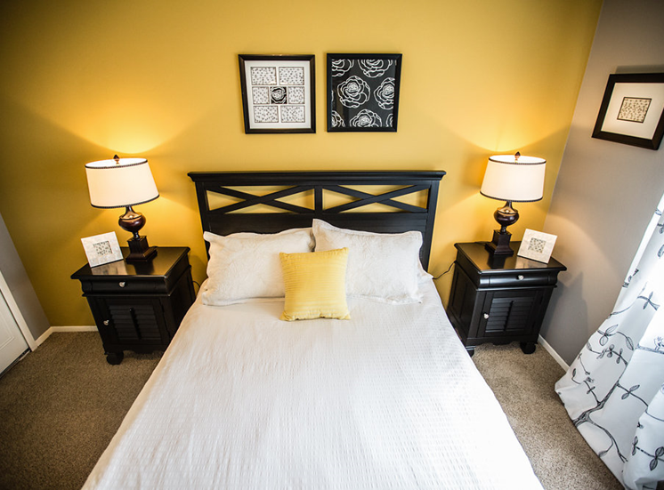Model Bedroom at Drawbridge Apartments East at Harrison Township, 48045