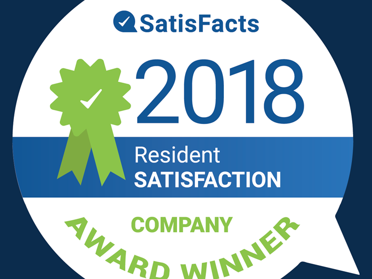 Company Award 2018 at Drawbridge Apartments East, Michigan