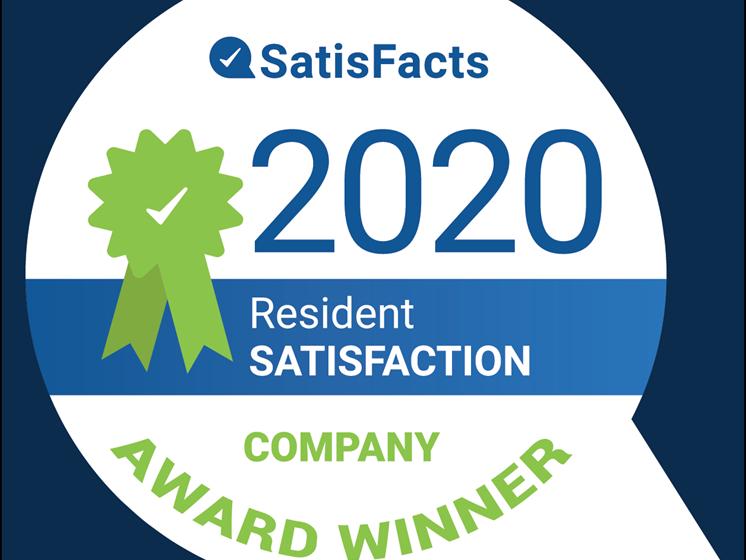 SatisFacts Company Award Winner Drawbridge Apartments Harrison Township MI