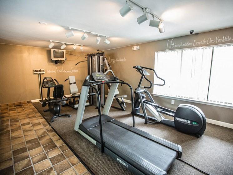 24-hour Fitness Center at Drawbridge Apartments East, Michigan