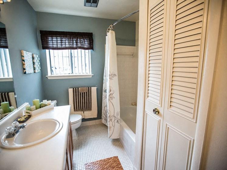 Bathroom at Drawbridge Apartments East at Harrison Township, MI 48045