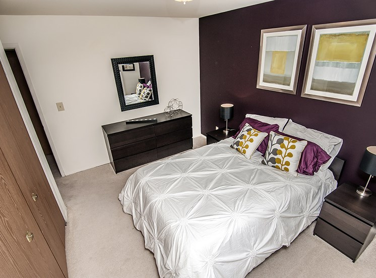 Bedroom with Closet Space at Eastwood Village Apartments, 48035