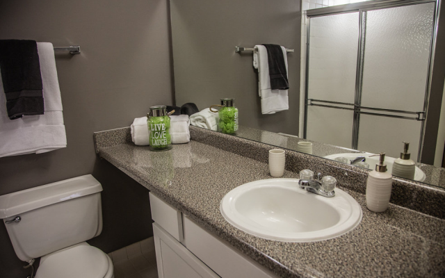 Modern Bathroom at Franklin River Apartments, Michigan