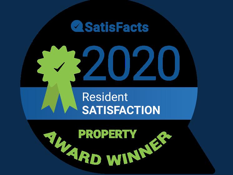 SatisFacts Property Award Winner Franklin River Apartments Southfield MI