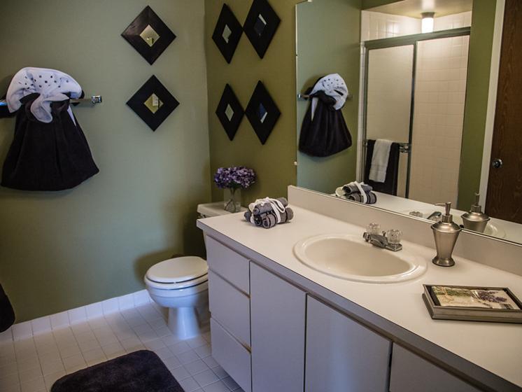 Spacious Bathroom at Franklin River Apartments, MI 48034