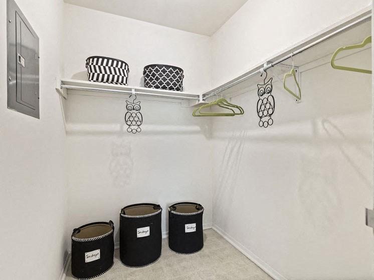 Front closet - at Franklin River Apartments, Southfield, MI 48034