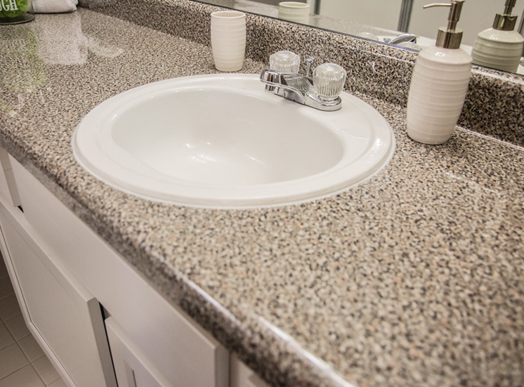 Granite Sink Counter at Franklin River Apartments, Southfield, Michigan