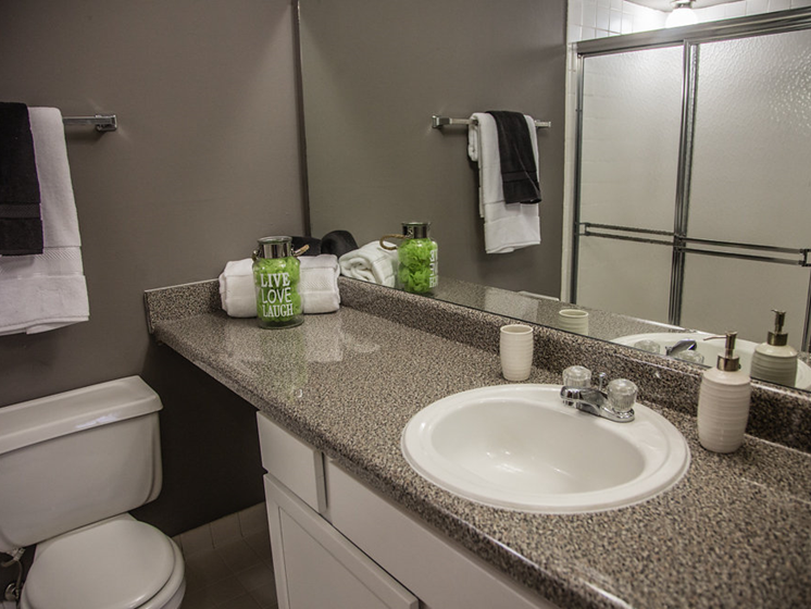 Modern Bathroom at Franklin River Apartments, MI 48034