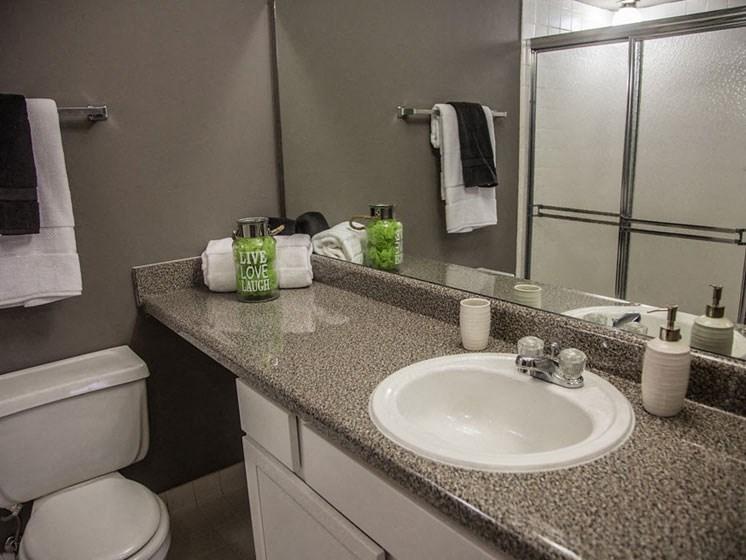 Modern Bathroom at Franklin River Apartments, MI 48034