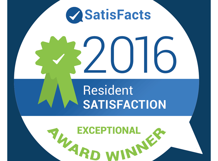 Resident Satisfaction Exceptional Award Winner at Knottingham Apartments, Clinton Township, MI
