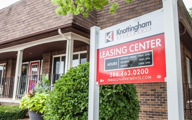Leasing Office at Knottingham Apartments, MI 48036