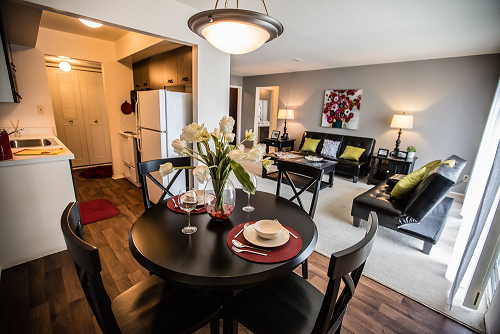 Open Floorplan Layout at Knottingham Apartments, Michigan