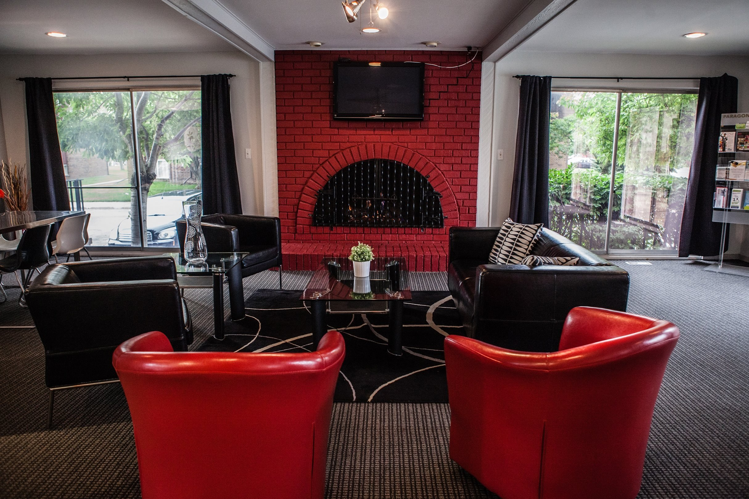 Clubhouse and Lounge Area at Knottingham Apartments 23128 Wellington Crescent
