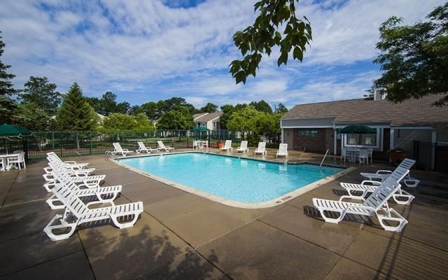 Heated Pool with Sun Deck at Park Lane Apartments, Southfield, Michigan