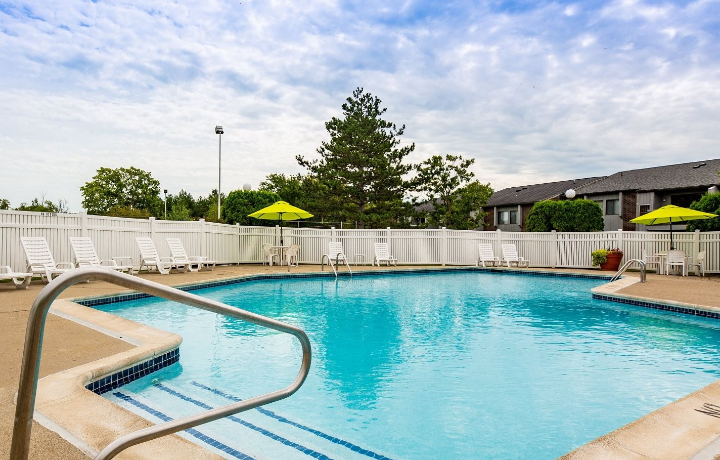 Heated Pool at Three Oaks Apartments