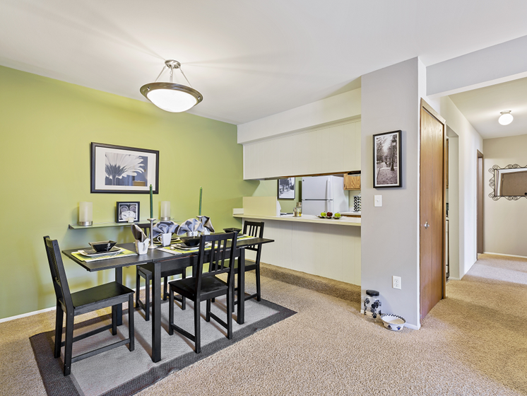Two bedroom dining room