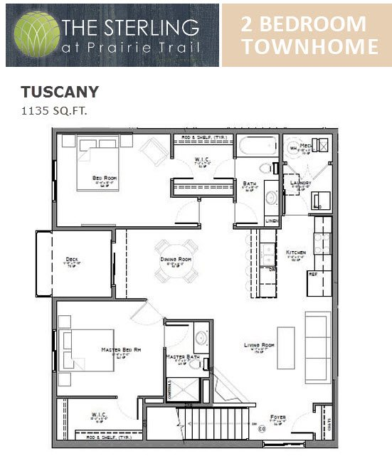 Tuscany Townhome Floor Plan 15