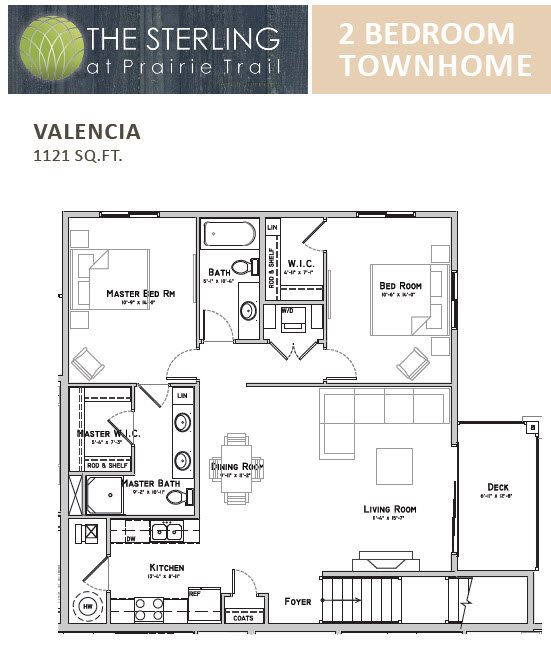 Valencia Townhome Floor Plan 12