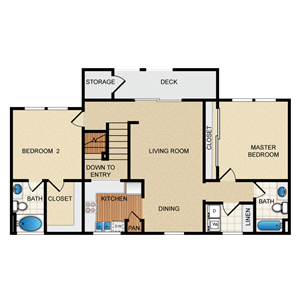 Barcelona Floorplan at Santa Rosa Apartment Homes, Wildomar, CA, 92595
