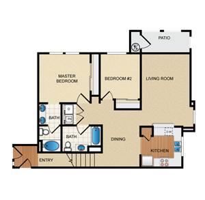 Madrid Floorplan at Santa Rosa Apartment Homes, Wildomar, CA, 92595