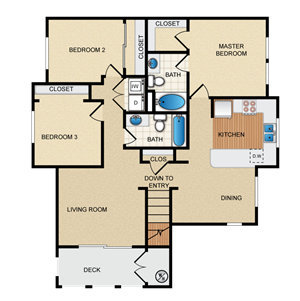 Sevilla Floorplan at Santa Rosa Apartment Homes, Wildomar, CA, 92595