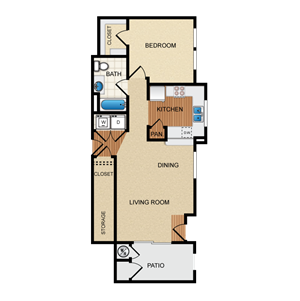 Havarra Floorplan at Santa Rosa Apartment Homes, Wildomar, CA, 92595