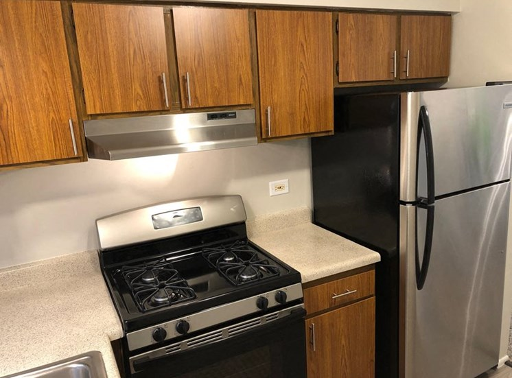 2Br, 1BA Standard A-Style Kitchen with stainless steel option