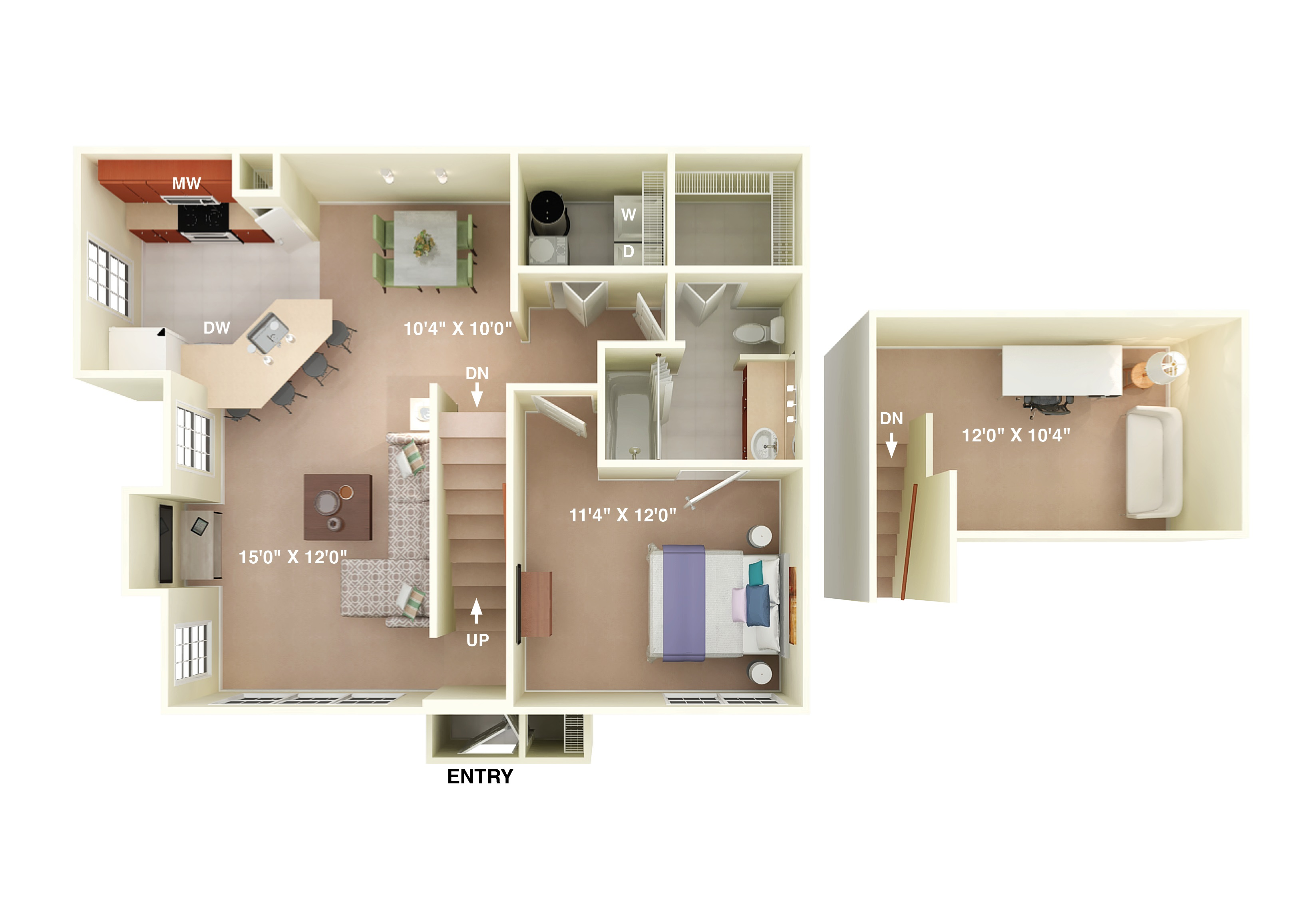 Floor Plans Of Fortress Grove Apartments In Murfreesboro Tn