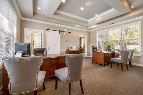 Legacy Mill Leasing Office Interior