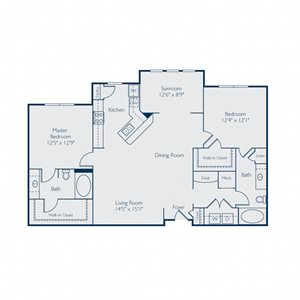 1291 square feet