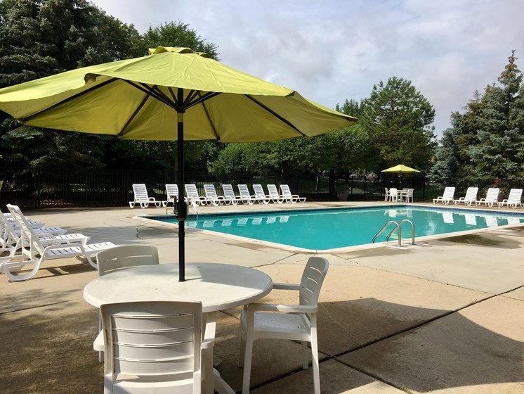 Fitness center pool, lakeside village apartments