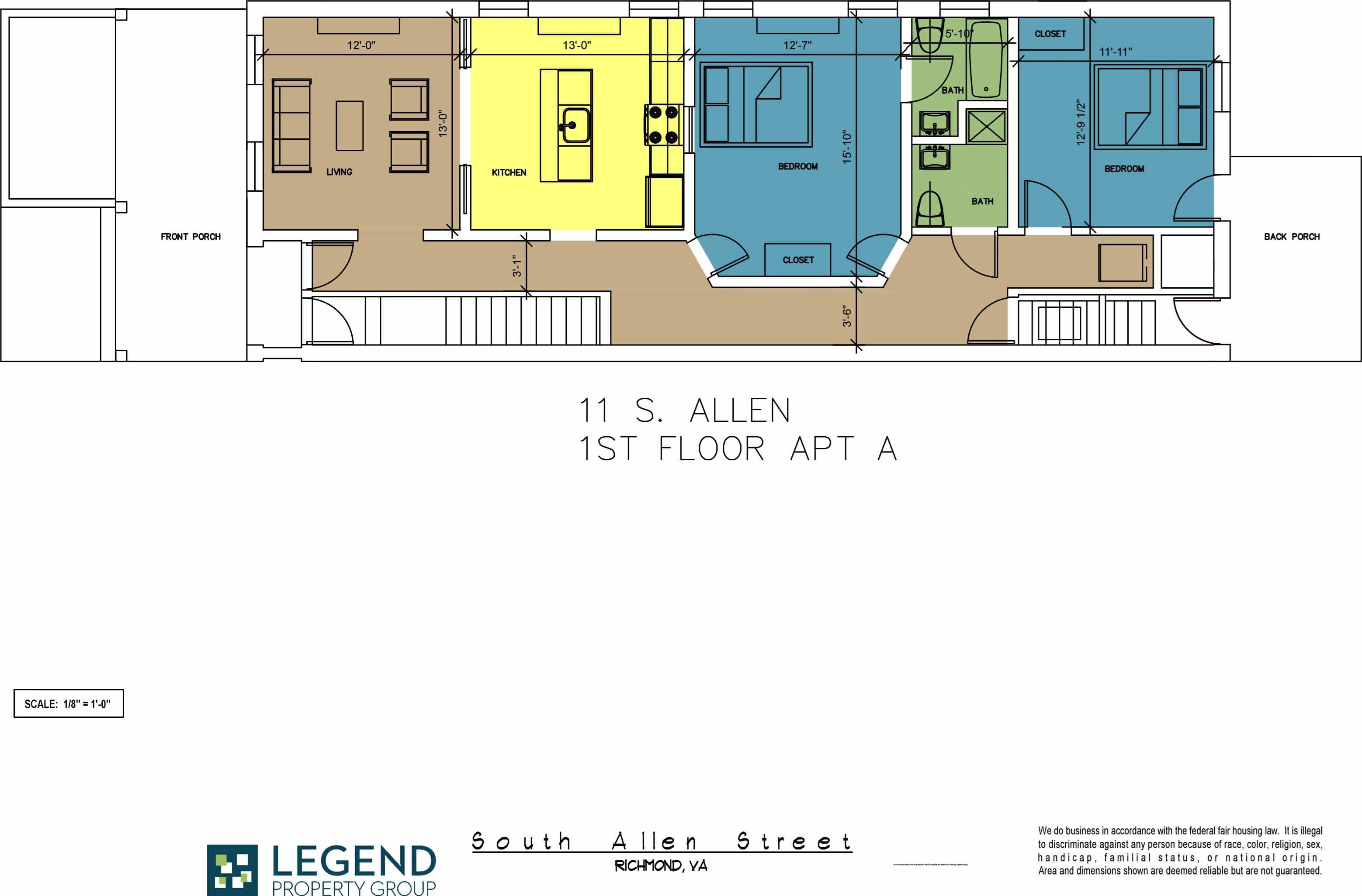 Floor Plans Of The Row At Cary Place In Richmond Va