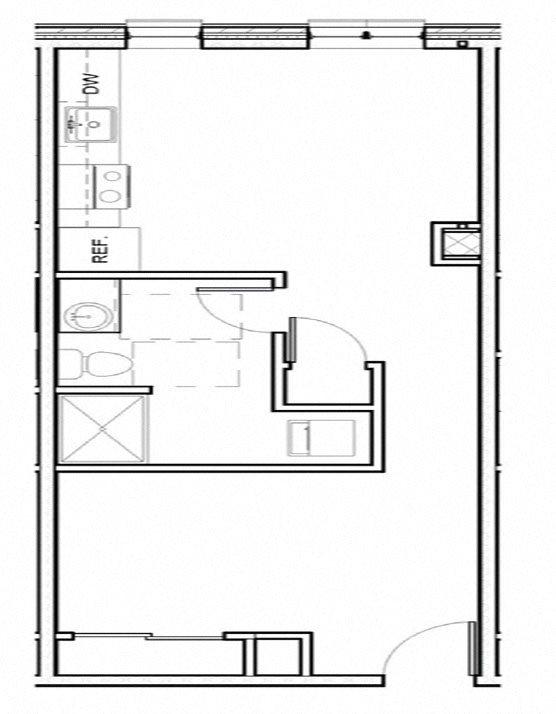 1 Bed Loft 104 Floor Plan 16