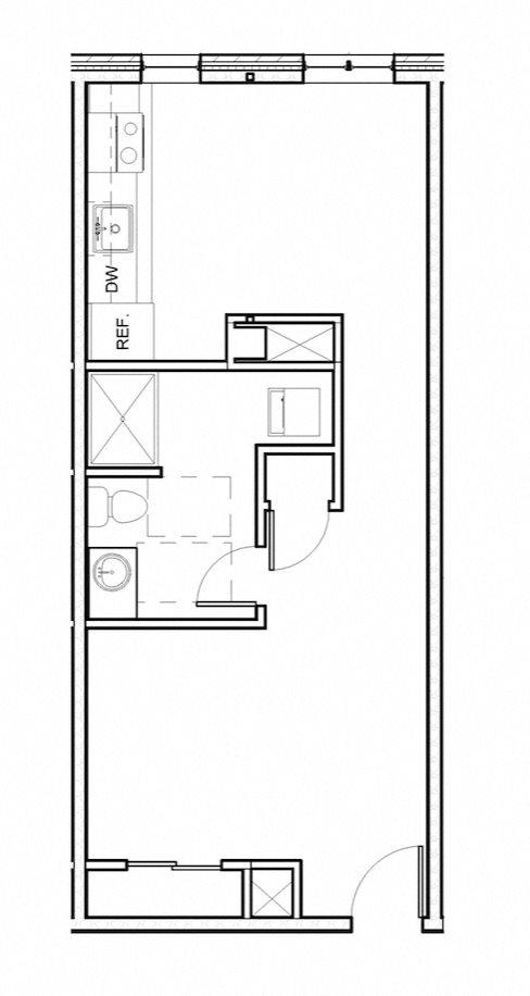 1 Bed Loft 106 Floor Plan 18