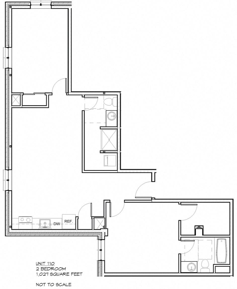 2 Bed 2 Bath 110 Floor Plan 3