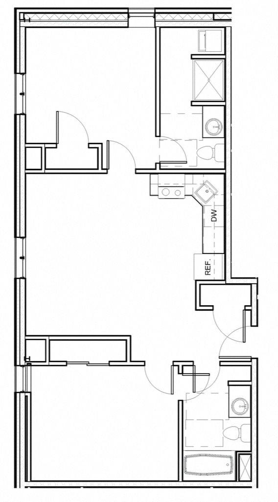 2 Bed 2 Bath 207-607 Floor Plan 11