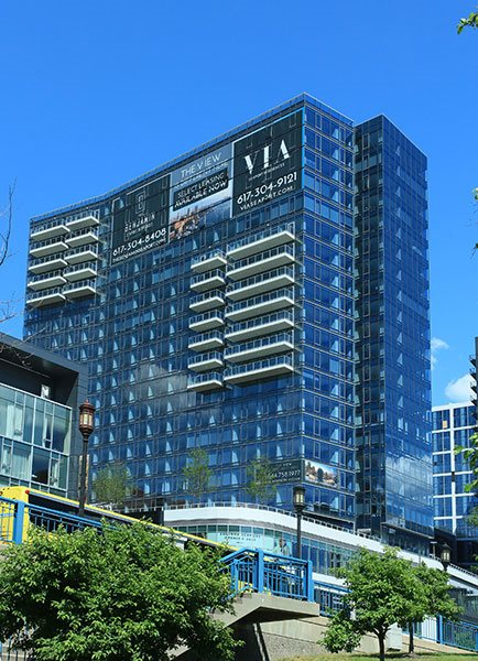External View OF Building at The Benjamin Seaport Residences, Boston, MA