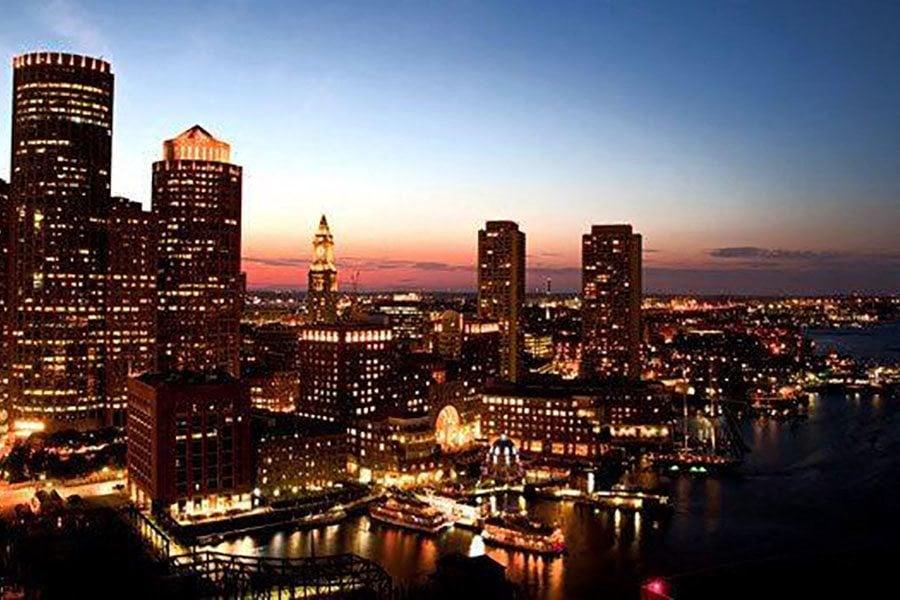 City Night Light View at The Benjamin Seaport Residences, Massachusetts
