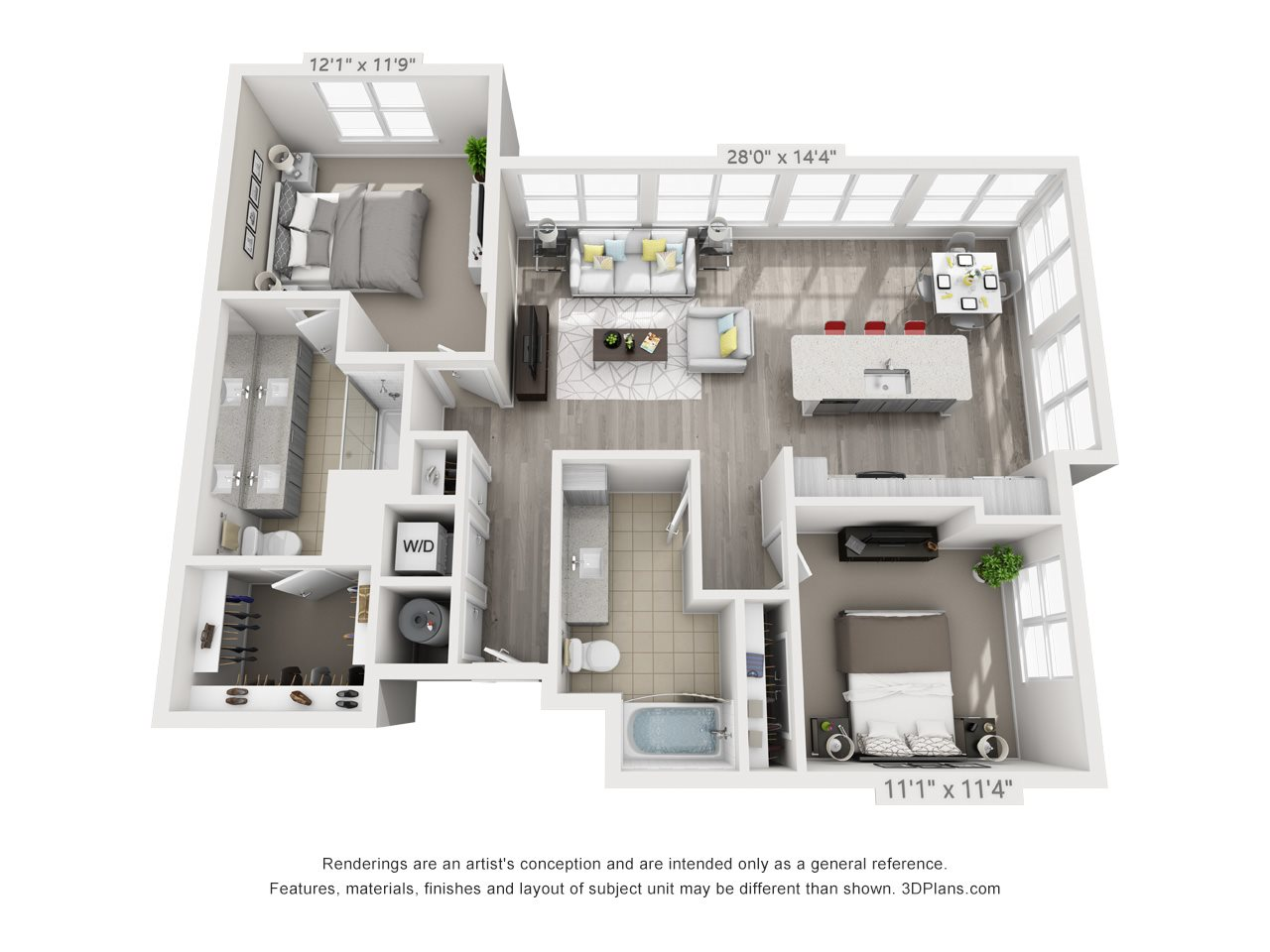 B5 2 BEDROOM/2 BATH Floor Plan 18