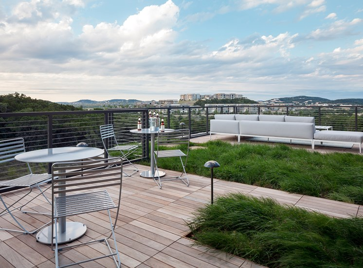 Roof top terrace with miles of Hill Country Views at Ascent Cresta Bella, San Antonio, 78256