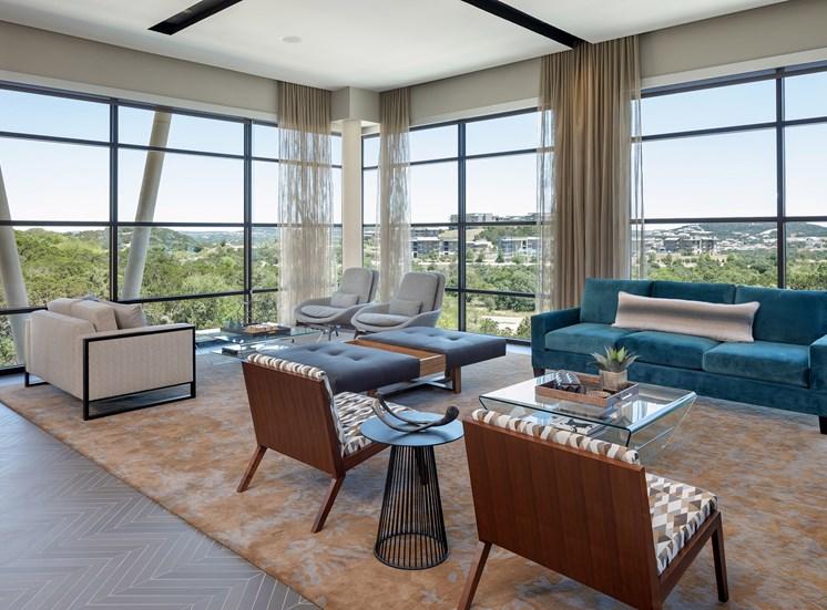 Community Lounge with Stunning Views at Ascent Cresta Bella, 19702 Bella Loma Drive, TX 78256
