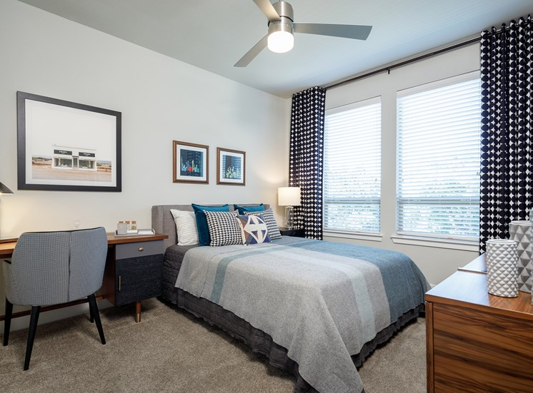 Master Bedroom with Study Area at Ascent Cresta Bella, 19702 Bella Loma Drive, 78256