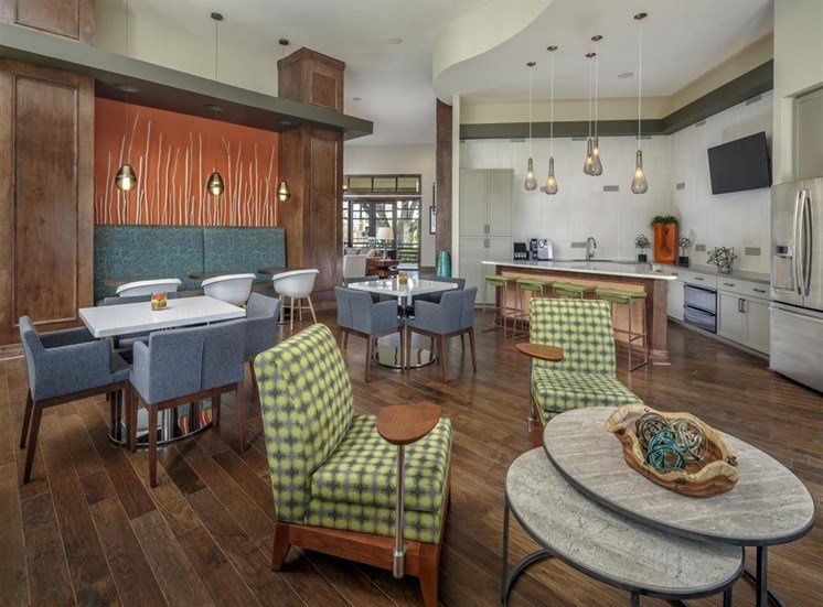 Digital Cafe with Lounge and Banquet Seating at Thirty Oaks, San Antonio,Texas