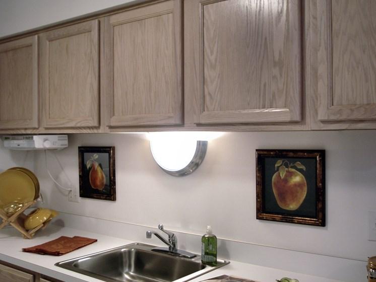 Kitchen at Prentiss Pointe Apartments, Michigan