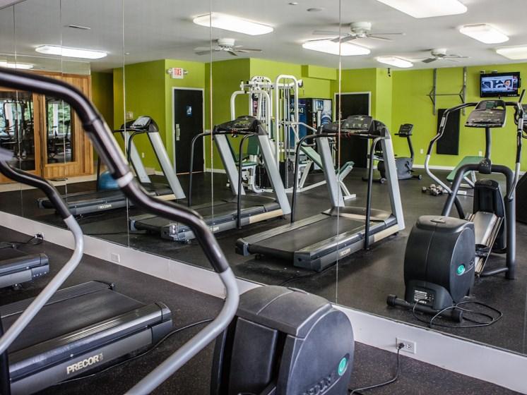 Fitness Center at Prentiss Pointe Apartments at 6*444 Prentiss Road, Michigan