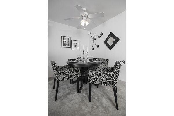 Beautifully Renovated Dining Area at Westwood Village Apartments, Westland, Michigan