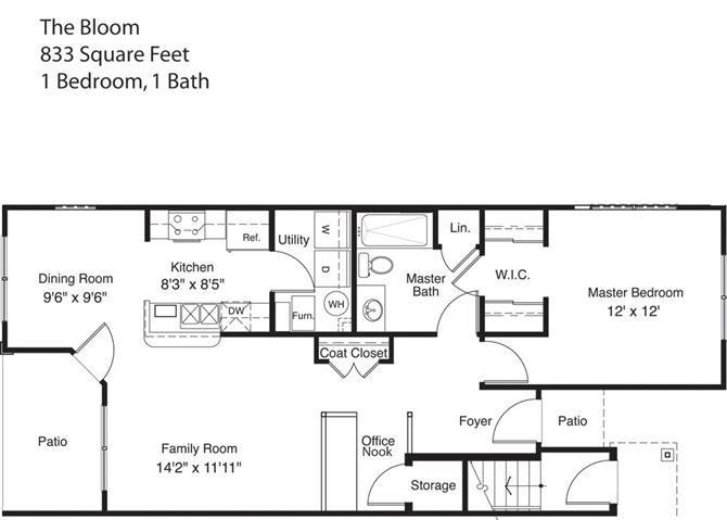 The Bloom Floor Plan 1
