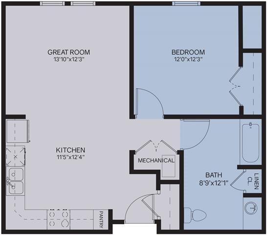 1B Floor Plan 2