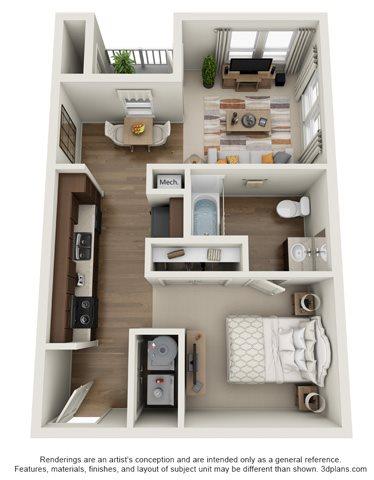 The Balcones Floor Plan 1