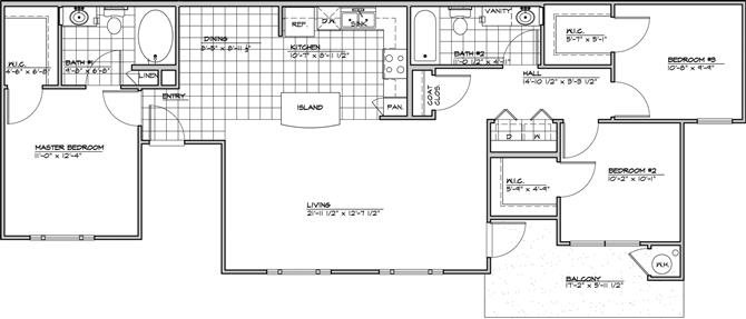 The Belleza Floor Plan 3